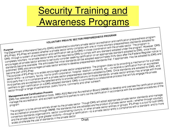 Security Training and