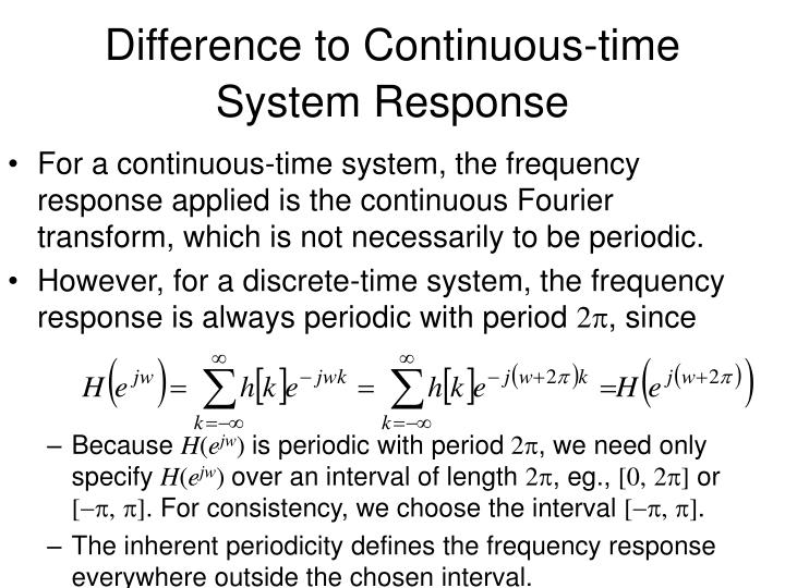 Difference to Continuous-time System Response