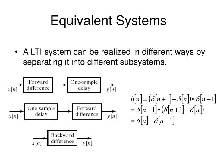 Equivalent Systems