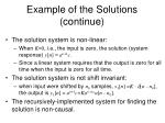 example of the solutions continue