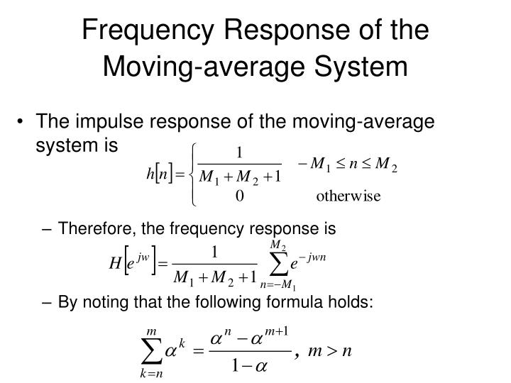 Frequency Response of the Moving-average System