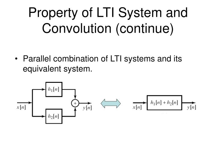 Property of LTI System and Convolution (continue)