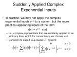 suddenly applied complex exponential inputs