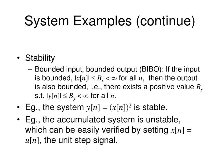 System Examples (continue)