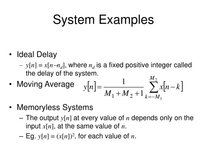 System Examples