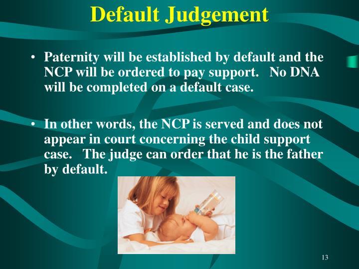 Default Judgement