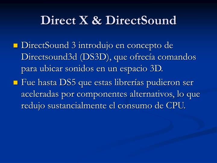 Direct X & DirectSound