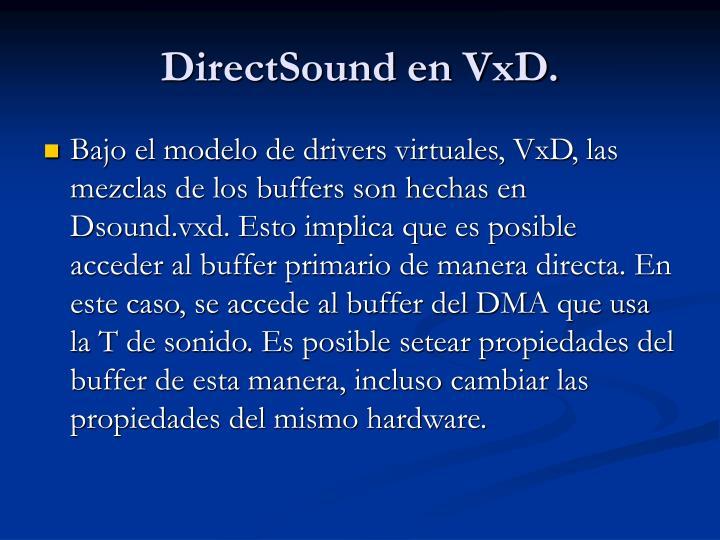 DirectSound en VxD.