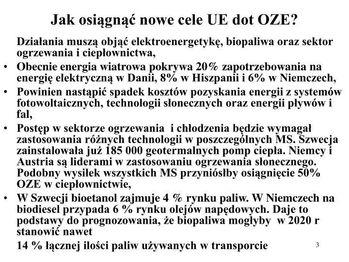 Jak osiągnąć nowe cele UE dot OZE?