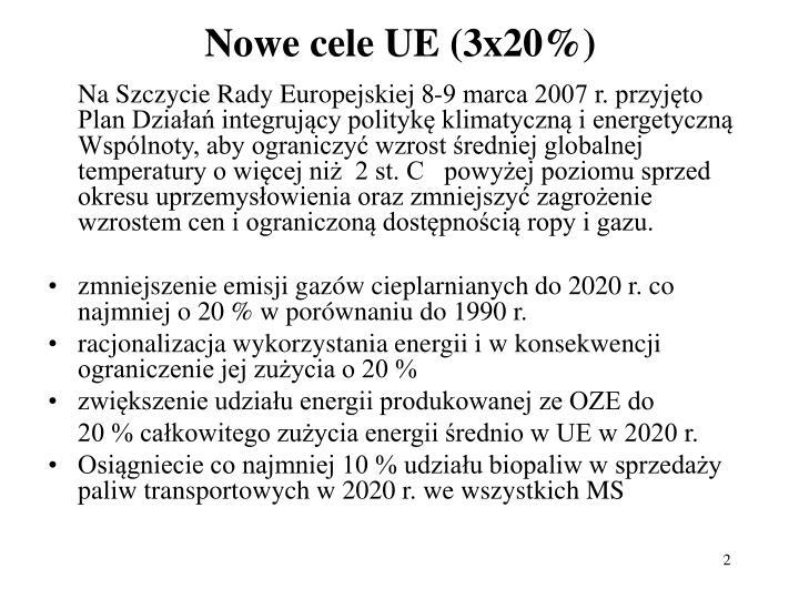 Nowe cele UE (3x20%)