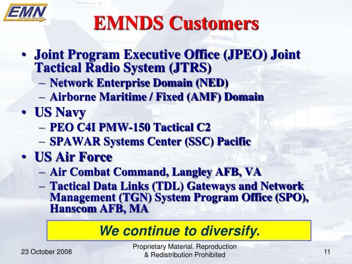 EMNDS Customers