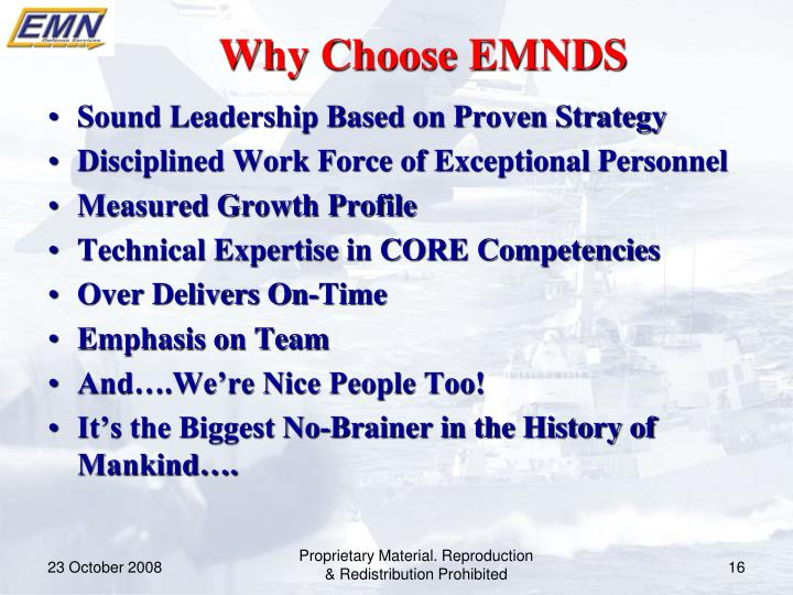 Why Choose EMNDS