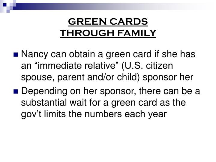 GREEN CARDS