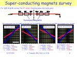 super conducting magnets survey