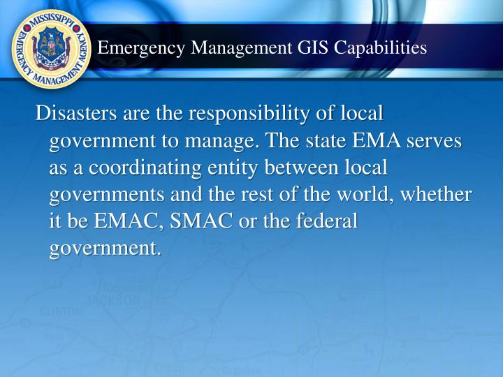 Emergency Management GIS Capabilities