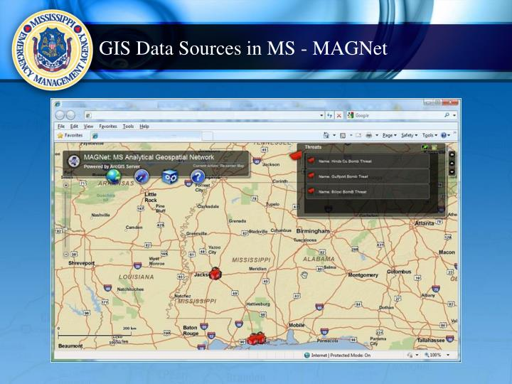 GIS Data Sources in MS - MAGNet