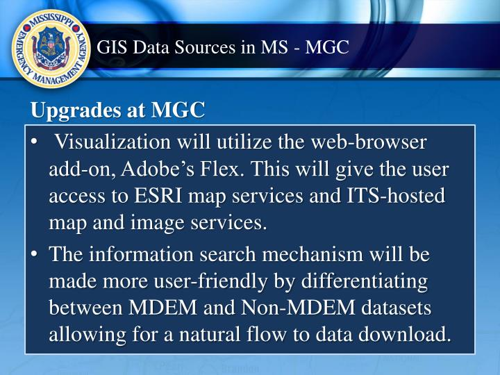 GIS Data Sources in MS - MGC