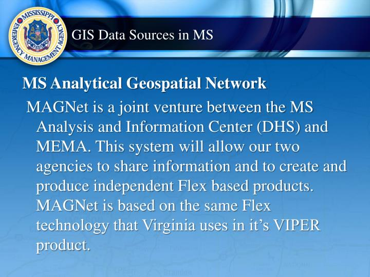 GIS Data Sources in MS