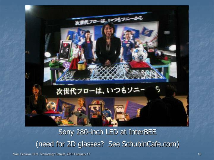 Sony 280-inch LED at InterBEE