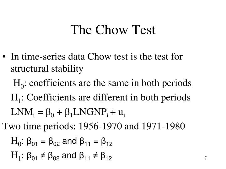 The Chow Test