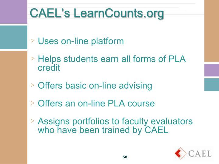 Uses on-line platform