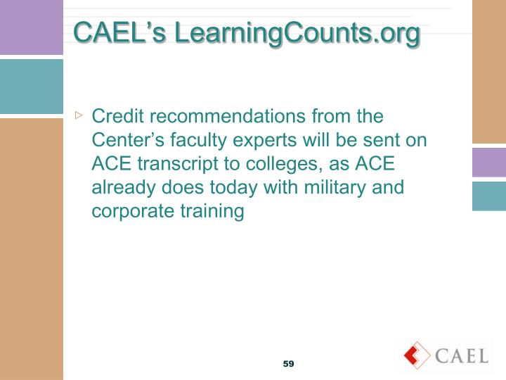 CAEL's LearningCounts.org