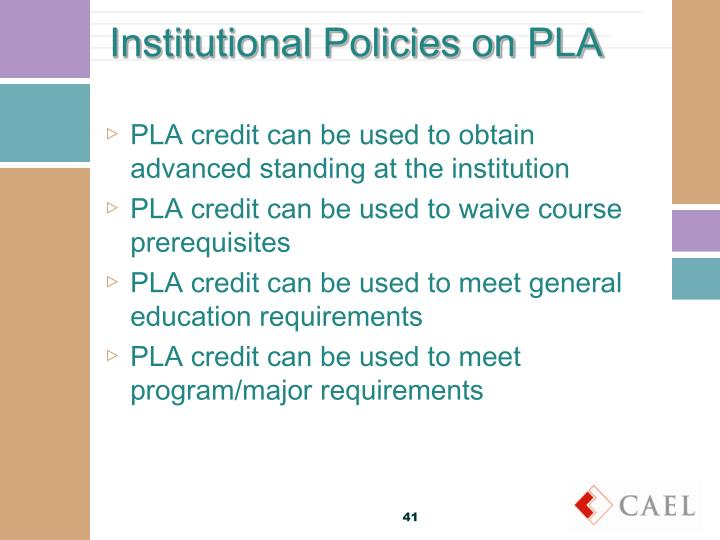 Institutional Policies on