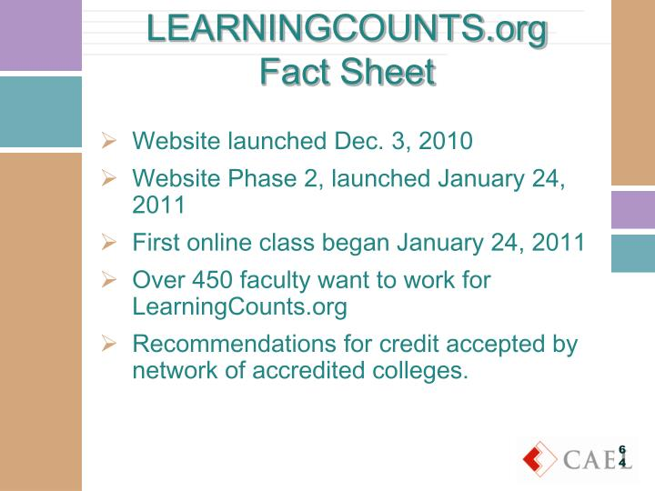 LEARNINGCOUNTS.org