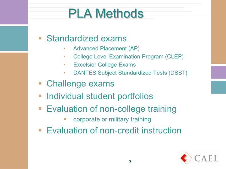 PLA Methods