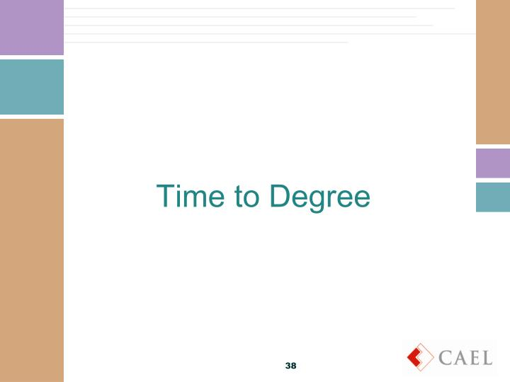 Time to Degree