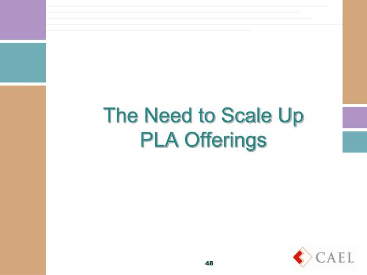 The Need to Scale Up