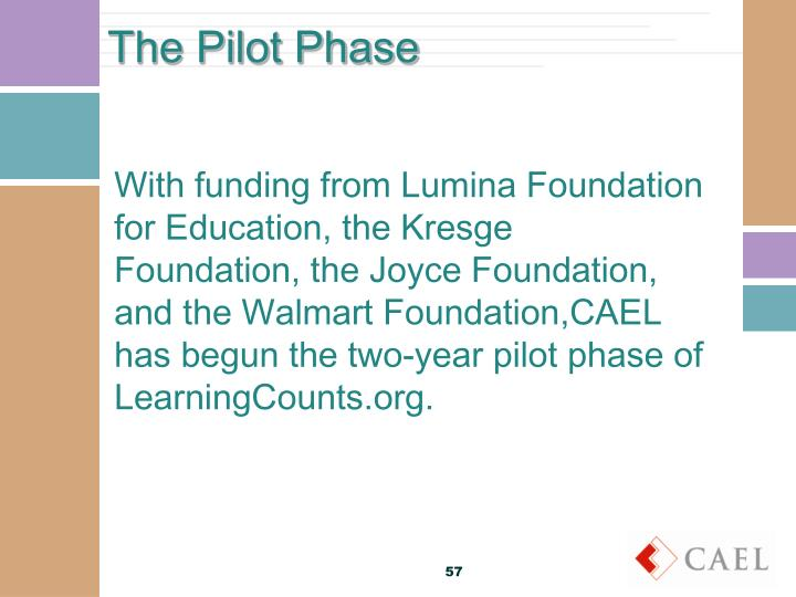 The Pilot Phase