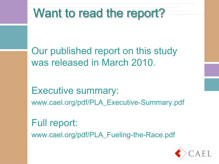 Want to read the report?