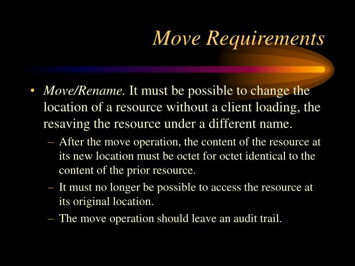 Move Requirements