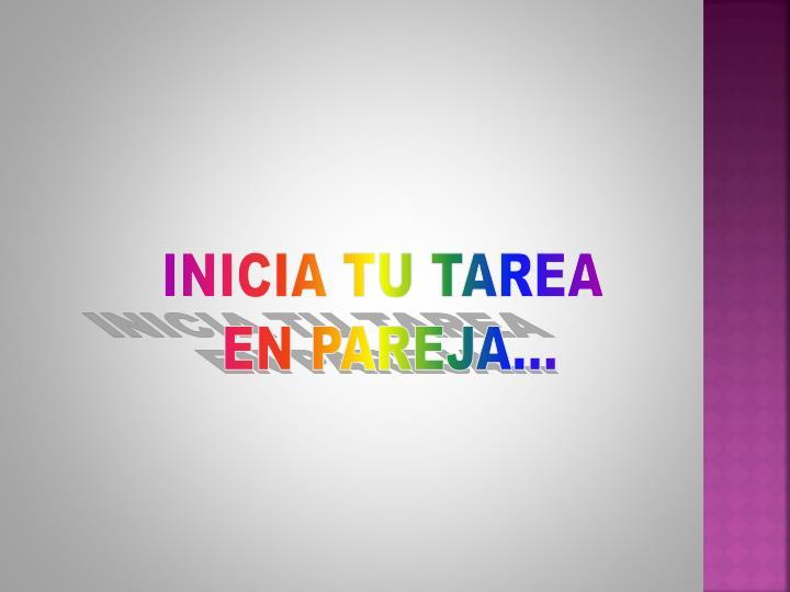 INICIA TU TAREA