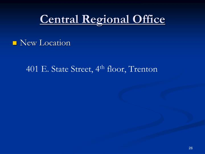 Central Regional Office