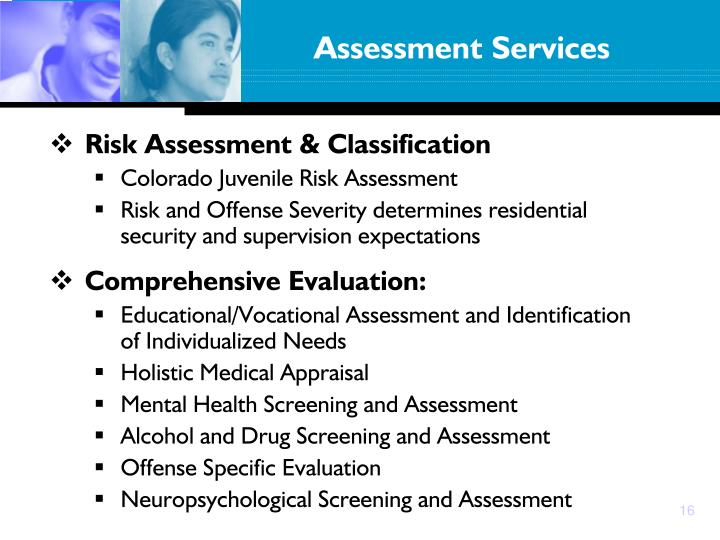 Risk Assessment & Classification