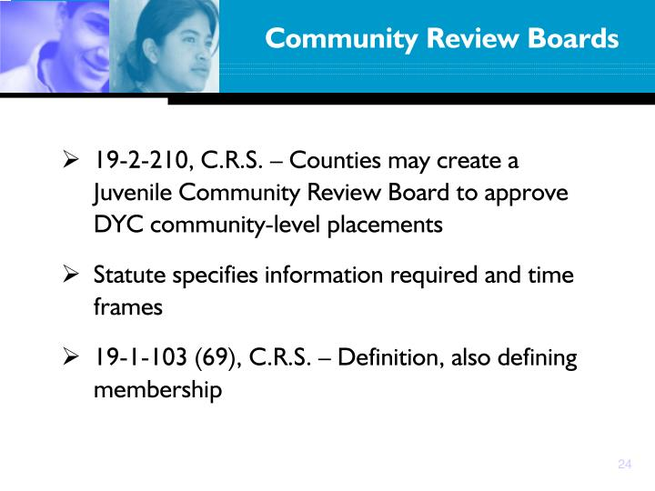 Community Review Boards