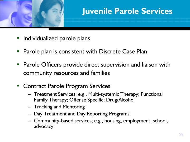 Individualized parole plans