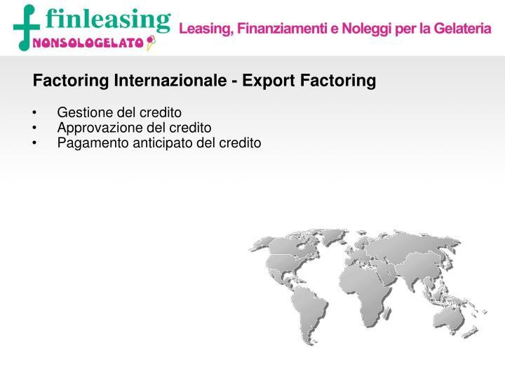 Factoring Internazionale - Export Factoring