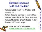 roman numerals past and present