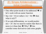 e simple antiderivatives initial conditions