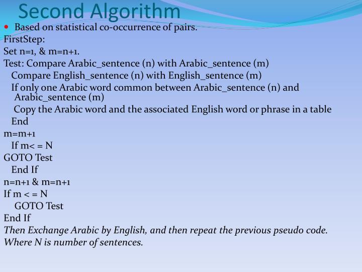 Second Algorithm