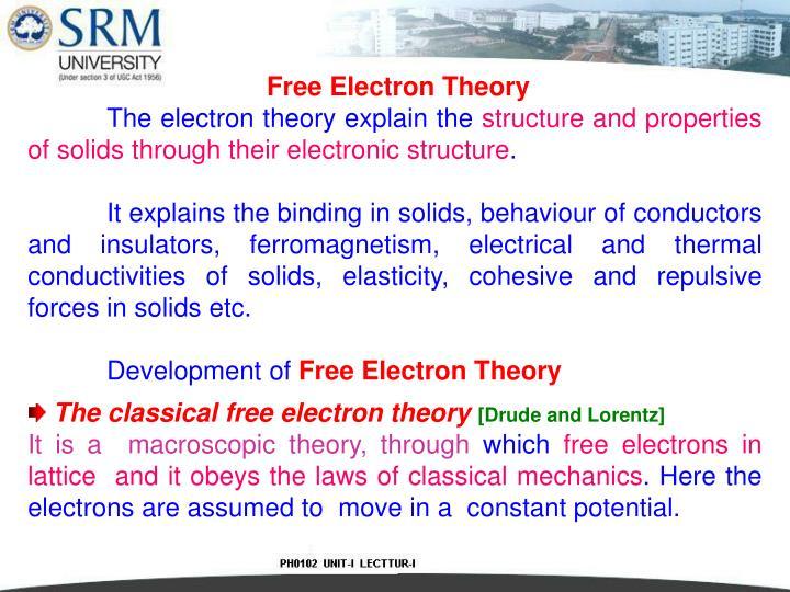 Free Electron Theory