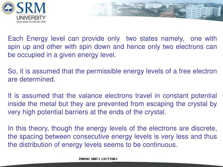 Each Energy level can provide only  two states namely,  one with spin up and other with spin down and hence only two electrons can be occupied in a given energy level.