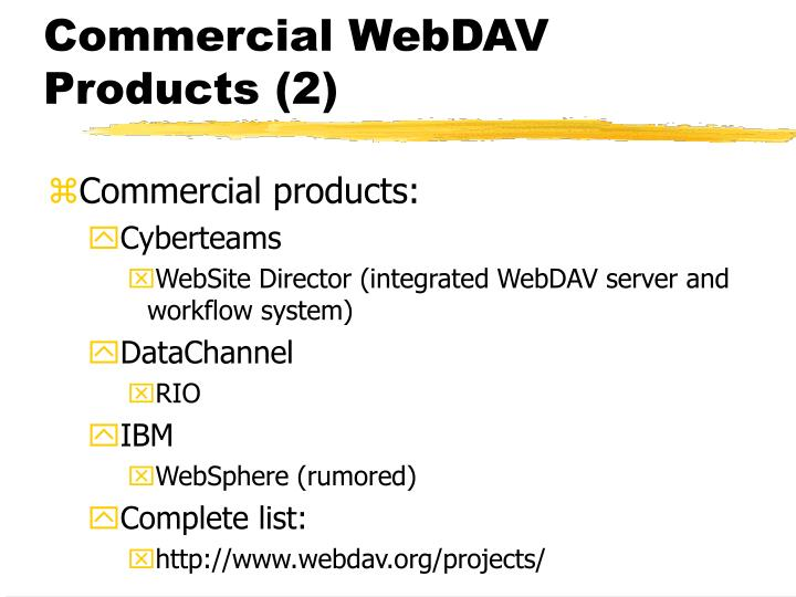 Commercial WebDAV Products (2)