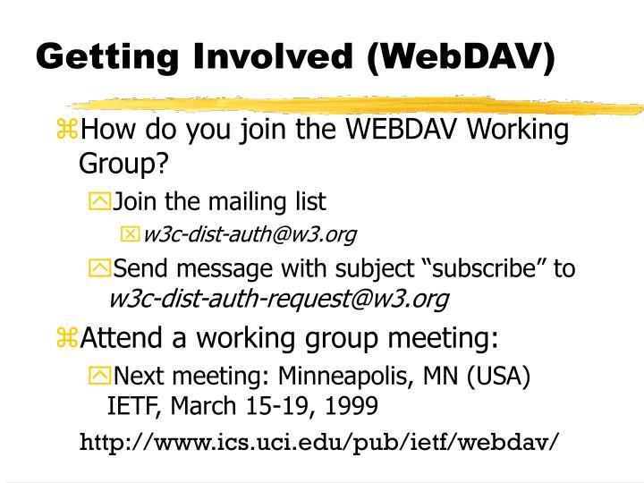 Getting Involved (WebDAV)