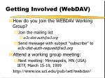 getting involved webdav