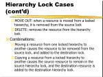 hierarchy lock cases cont d