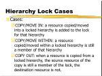 hierarchy lock cases